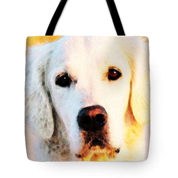 Dog Art - Golden Moments Tote Bag by Sharon Cummings