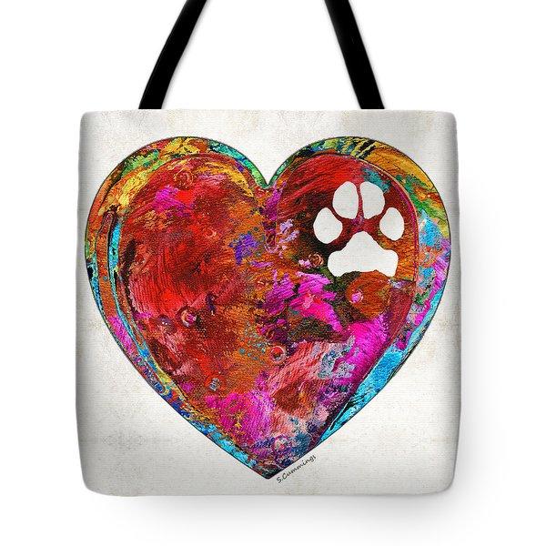 Dog Art - Puppy Love 2 - Sharon Cummings Tote Bag by Sharon Cummings