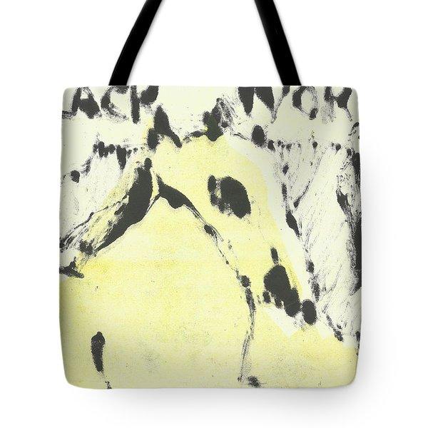 Dog At The Beach - Black Ivory 1 Tote Bag