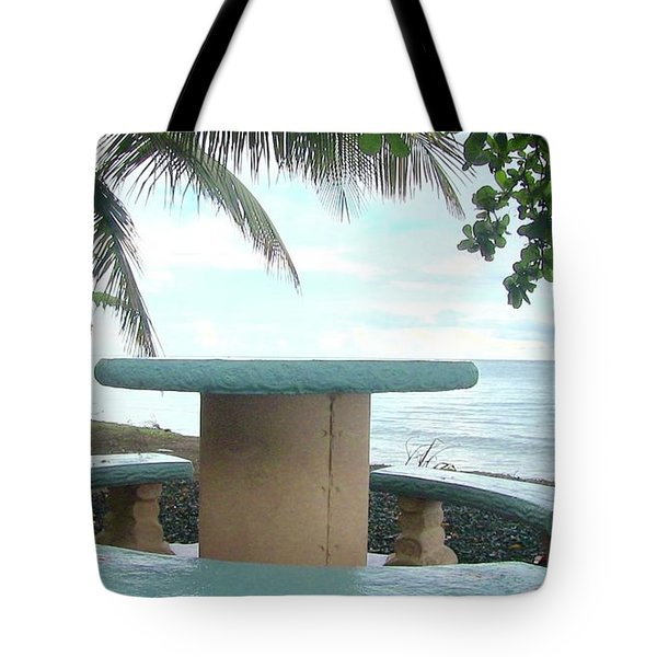 Dog By The Beach In Rincon Tote Bag