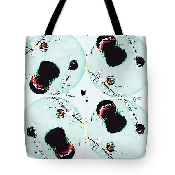 Dog Blossoms  Tote Bag
