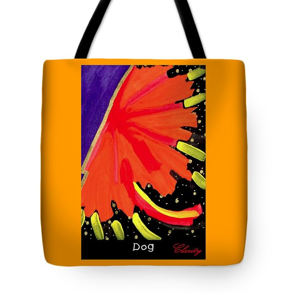Tote Bag featuring the painting Dog by Clarity Artists