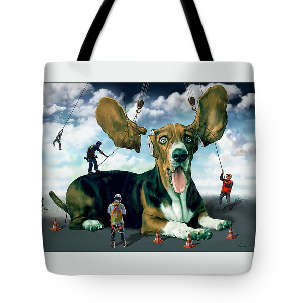 Dog Construction Tote Bag