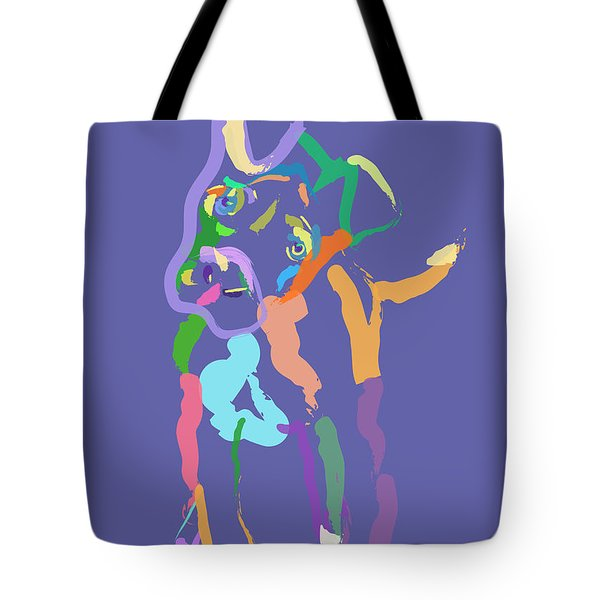 Tote Bag featuring the painting Dog Cookie by Go Van Kampen
