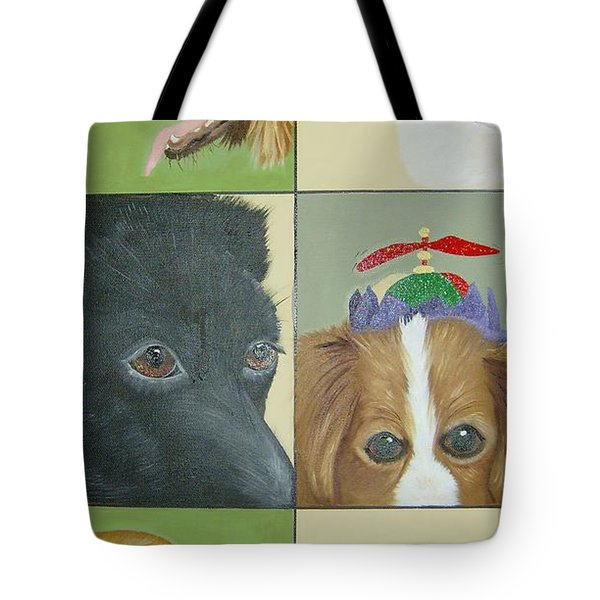 Dog Faces Of Love Tote Bag