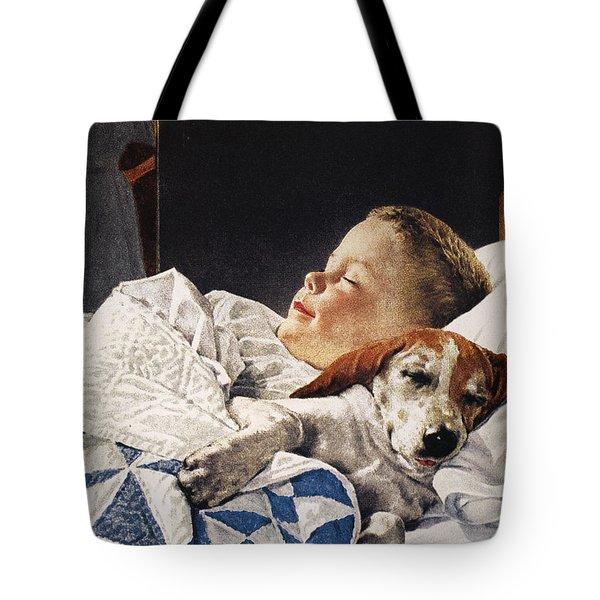 Dog Food Ad, 1956 Tote Bag by Granger