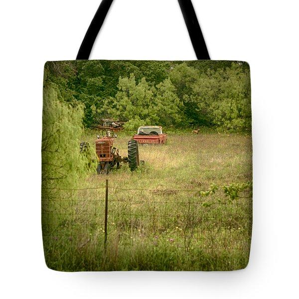 Dog In A Field II Tote Bag