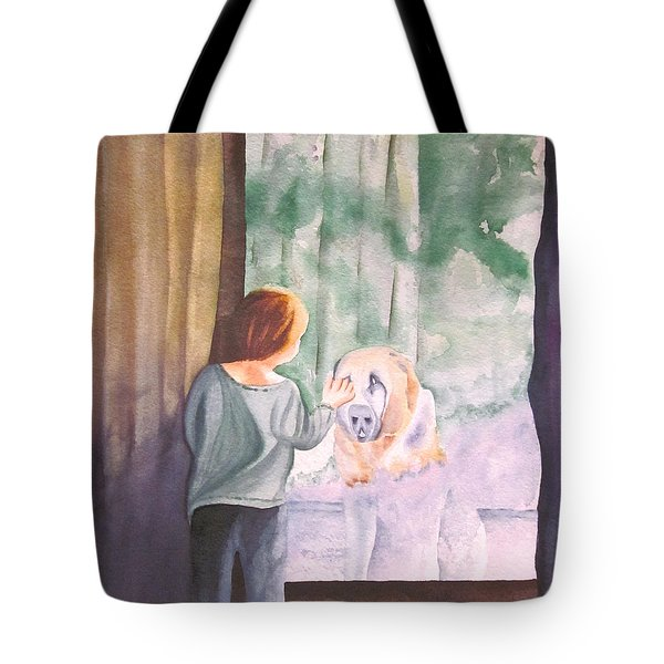 Dog In The Window Tote Bag