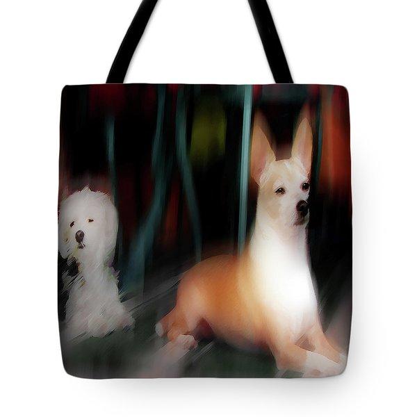 Dog Love Art 5 Tote Bag
