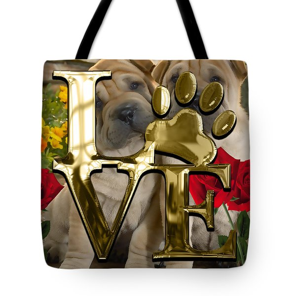 Dog Lover Collection Shar Pei Dogs Tote Bag