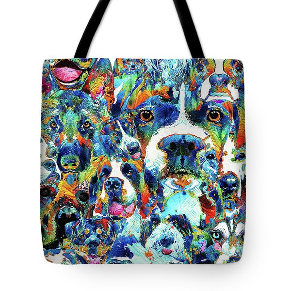 Dog Lovers Delight - Sharon Cummings Tote Bag by Sharon Cummings