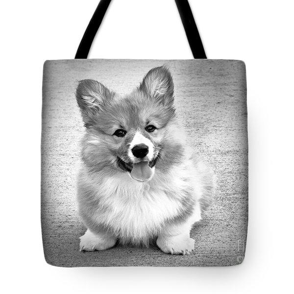 Puppy - Monochrome 6 Tote Bag