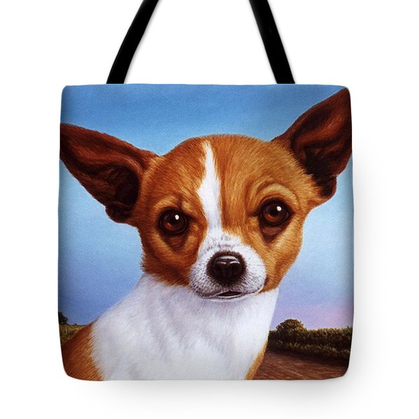 Dog-nature 3 Tote Bag by James W Johnson