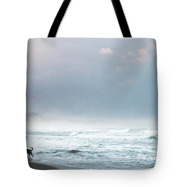 Dog On A Costa Rica Beach Tote Bag