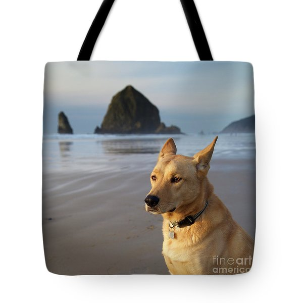 Dog Portrait @ Cannon Beach Tote Bag