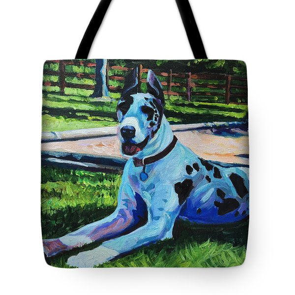 Dog Portrait Tote Bag by Steve Hunter