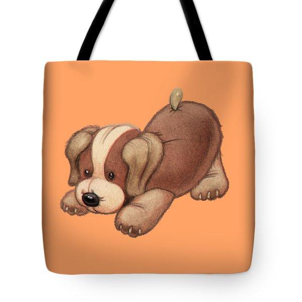 Dog Pounce Tote Bag