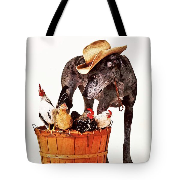 Tote Bag featuring the photograph Dog Sitter by Susan Stone