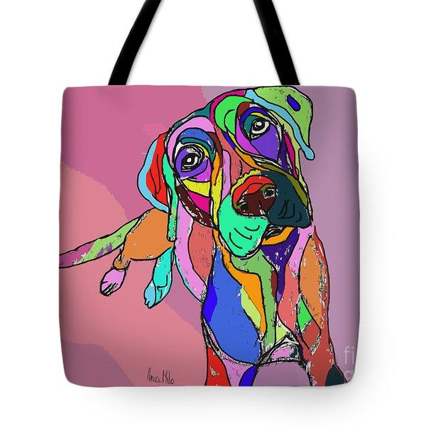 Dog Sketch Psychedelic  01 Tote Bag
