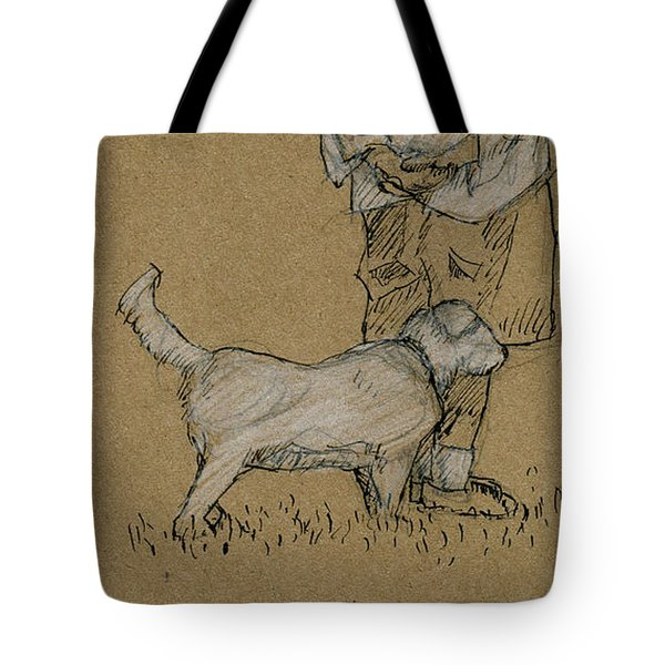 Dog Walker Plein Air Tote Bag