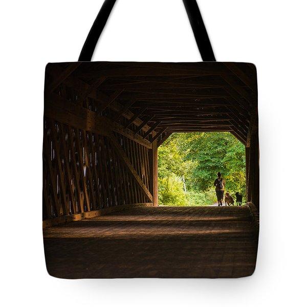 Dog Walking Tote Bag