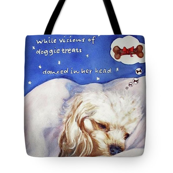 Tote Bag featuring the painting Doggie Dreams by Diane Fujimoto