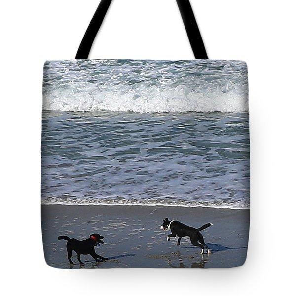 Tote Bag featuring the photograph Doggie Fun by Nareeta Martin
