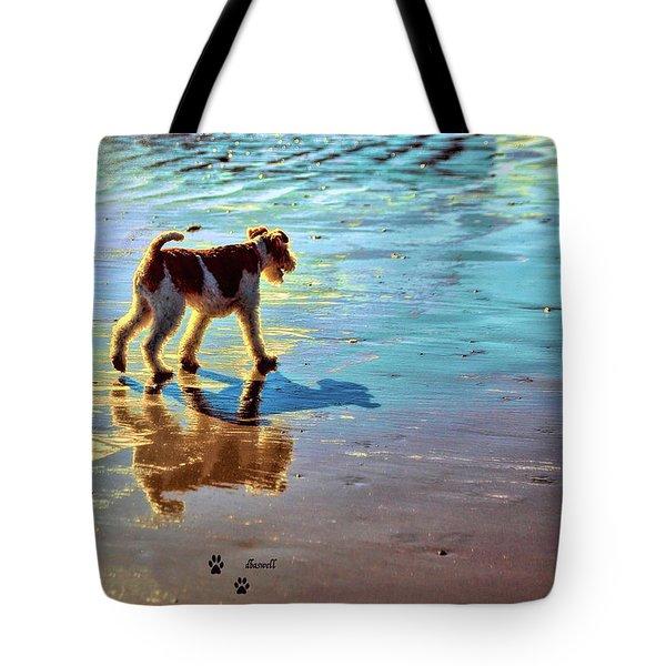 Doggone Beachy Day Tote Bag
