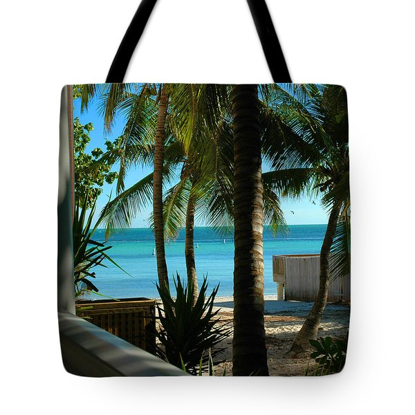 Dog's Beach Key West Fl Tote Bag by Susanne Van Hulst