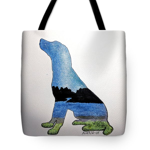 Tote Bag featuring the painting Humble by Edwin Alverio