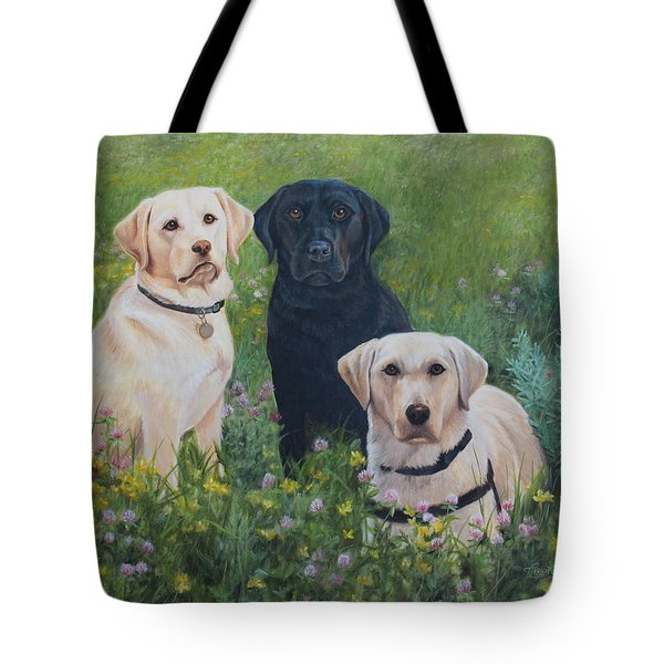 Tote Bag featuring the painting Dogs With Wings by Tammy Taylor