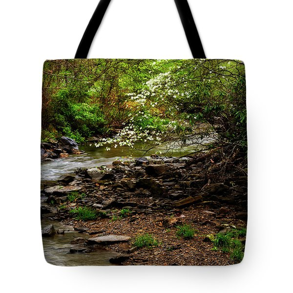 Dogwood At The Bend Tote Bag