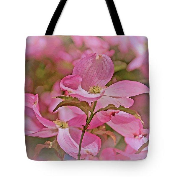 Tote Bag featuring the photograph Dogwood Bliss 11 by Lynda Lehmann