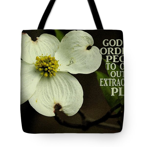 Tote Bag featuring the photograph Dogwood Bloom / Flower by James C Thomas