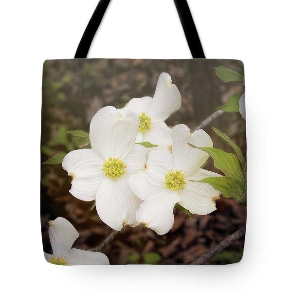 Dogwood Blossom Trio Tote Bag