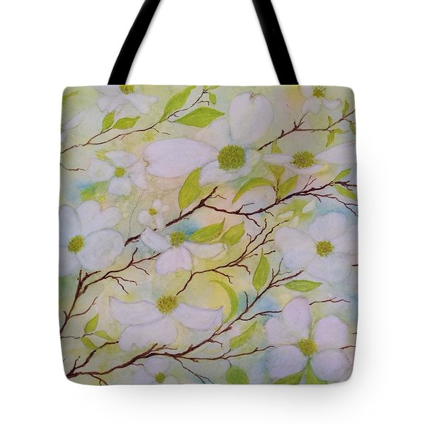 Dogwood Blossoms Tote Bag