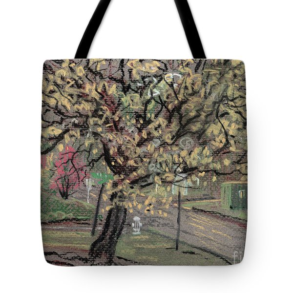 Tote Bag featuring the drawing Dogwood by Donald Maier