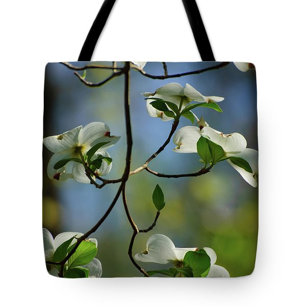 Dogwood In Lake Murray Tote Bag