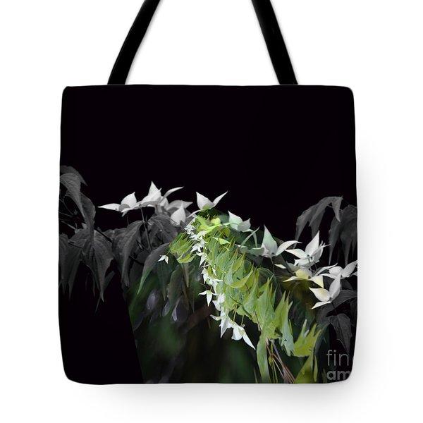 Dogwood Shades Of Grey Tote Bag by Elaine Hunter
