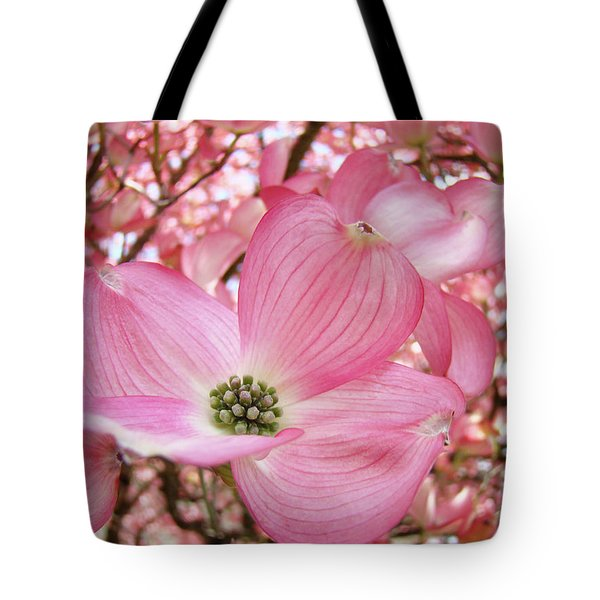 Dogwood Tree 1 Pink Dogwood Flowers Artwork Art Prints Canvas Framed Cards Tote Bag by Baslee Troutman