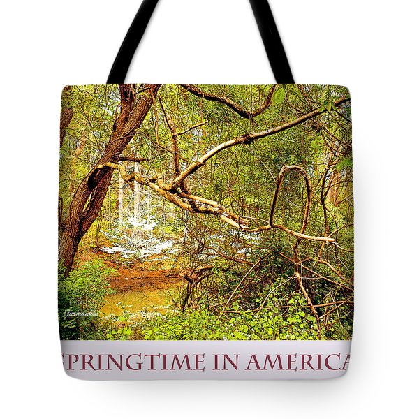 Tote Bag featuring the photograph Dogwood Tree In The Forest Spring by A Gurmankin