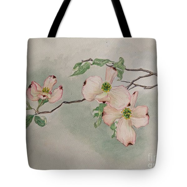 Dogwoods Tote Bag by Janet Felts