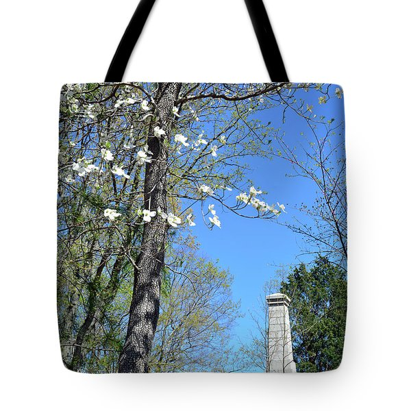 Dogwoods On Crest Of Kings Mountain National Military Park Tote Bag by Bruce Gourley