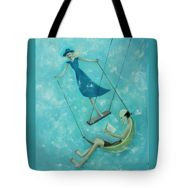 Doing The Swing Tote Bag by Tone Aanderaa