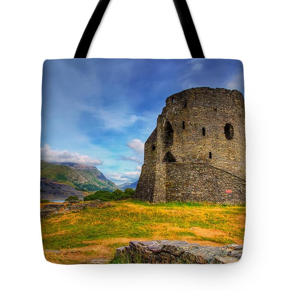 Dolbadarn Castle  Tote Bag by Adrian Evans