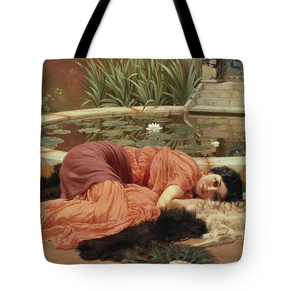 Dolce Far Niente Tote Bag by John William Godward