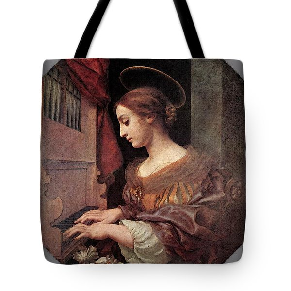Dolci Carlo St Cecilia At The Organ Tote Bag by Carlo Dolci