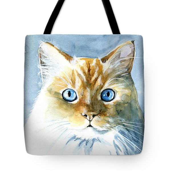 Doll Face Flame Point Himalayan Cat Painting Tote Bag