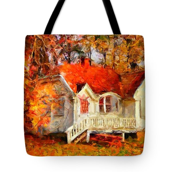 Doll House And Foliage Tote Bag