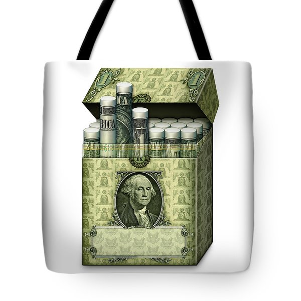 Dollar Cigarettes Tote Bag
